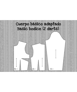Patrón base de cuerpo adaptado