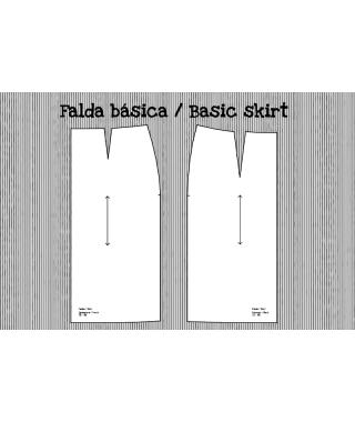 Patrón falda base