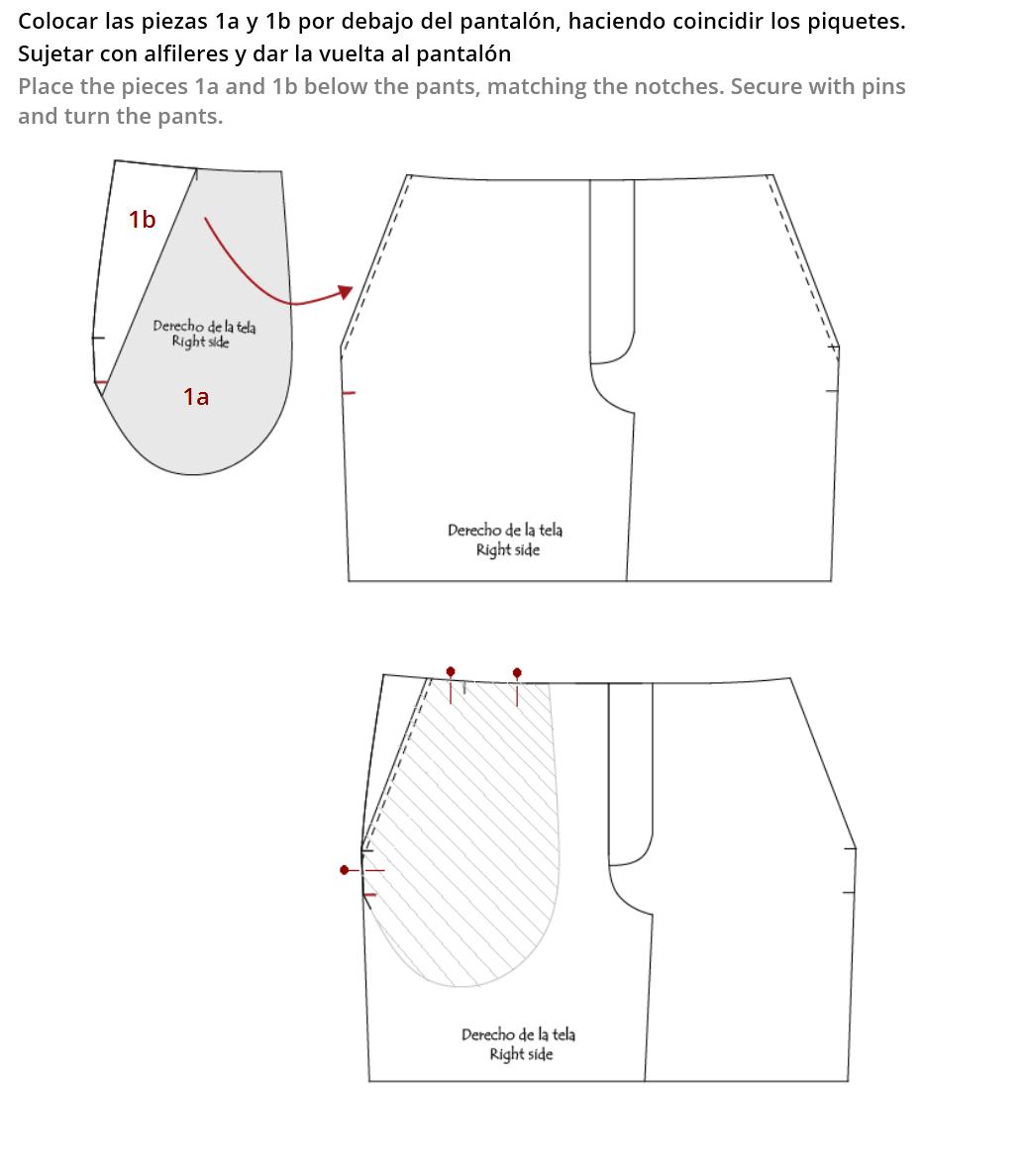 Resultado de imagen para patrones de bolsillo pantalon