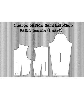 Patrón base de cuerpo semiadaptado