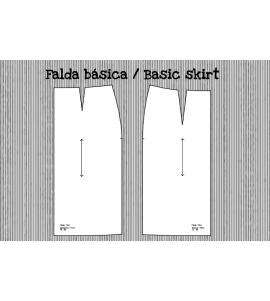 Patrón falda básica